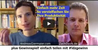 Schneller lesen und lernen, erfolgreich Produktivität steigern & gewinnen | Zach Davis im Talk