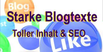 Starke Blogtexte