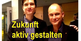Weltumsegler Bertrand Piccard mit Andreas Giermaier