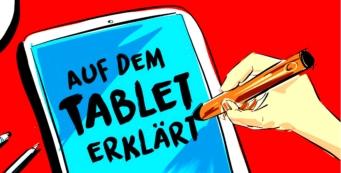 Erklären am Tablet