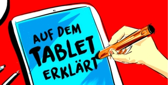 Einfach Erklären am Tablet